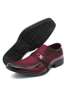 Sapato Social Verniz Renovally Vinho