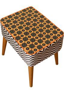 Banqueta Renata Sader Retangular Neo Amarelo 32X37X50Cm