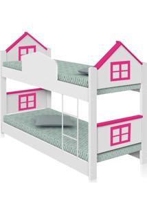 Beliche Infantil Casa Adesivada Rosa Com Colchãµes Casah - Rosa - Dafiti