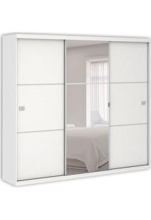 Guarda-Roupa Casal Polaris Com Espelho 3Pt 3Gv Branco