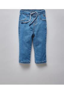 Calca Bb Jeans Bolso Basico Reserva Mini Azul