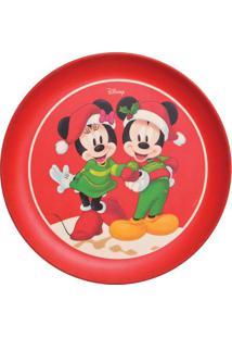 Prato De Sobremesa Disneyâ®- Vermelho & Verde- Ø20Cm