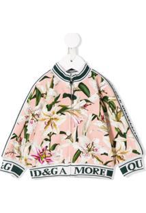 Dolce & Gabbana Kids Lily Print Track Jacket - Branco