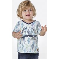 80db85eca61 Camiseta Bebê Menino Em Malha De Algodão Flamê Estampada Puc