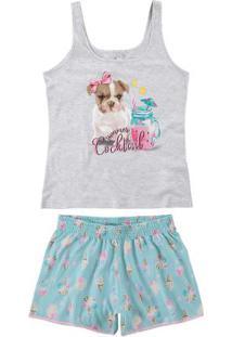 Pijama Cinza Feminino Tal Mãe
