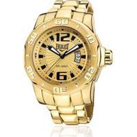 4ac723bab2b Relógio Everlast Analógico Cx E Pulseira Aço Masculino - Masculino-Dourado