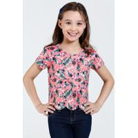 0beab85d5 Blusa Para Menina Estampada Floral infantil | Shoes4you