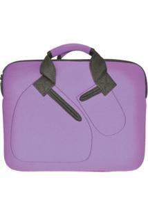 "Case Para Notebook 15"" Ls Bolsas Em Neoprene 3Mm - Feminino-Roxo"