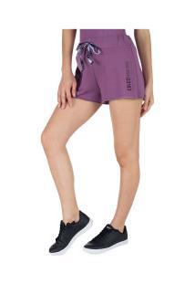 Shorts De Moletom Colcci - Feminino - Roxo