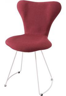 Cadeira Jacobsen Series 7 Vermelho Marsala Com Base Curve Branca - 49610 - Sun House