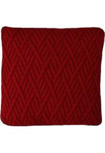 Capa Almofada Tricot 40X40Cm / 45X45Cm C/ZãPer Sofa Trico Cod 1025 Vermelho - Vermelho - Feminino - Dafiti