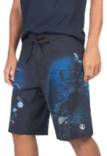 Short Taco Boardshort Surf Stretch Noronha Az Masculino - Masculino-Azul