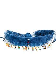Dannijo Choker Estilo Lenço - Azul