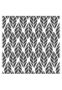 Papel De Parede Folhas Cinza Escuro Para Sala 57X270Cm