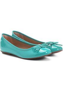 Sapatilha Infantil Shoestock Verniz Feminina - Feminino-Verde Água