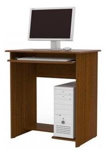 Mesa De Computador Prática Com Gaveta - Castanho - Ej Móveis