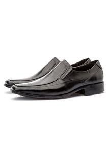 Sapato Social Masculino Liso Esporte Fino Torani Couro Preto