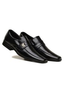 Sapato Preto Social Masculino Confortável Fácil De Calçar