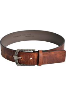 Cinto Casual Em Couro Fossil Yes Basic Ref 070 Whisky