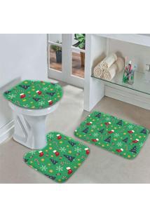 Jogo Tapetes Para Banheiro Christmas Único