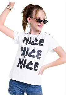 Blusa Teen Feminina Branco