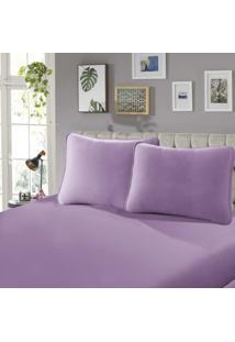 Lençol Com Elástico Casal 30 Confort 1 Peça Rose - Sbx Têxtil