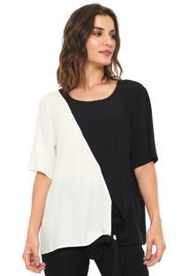 Camiseta Forum Bicolor Off-White/Preta