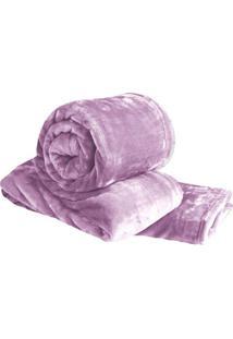 Cobertor Super Soft Solteiro - Lilás - 160X220Cmsultan