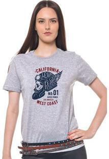 Camiseta Feminina Joss - California - Feminino-Mescla