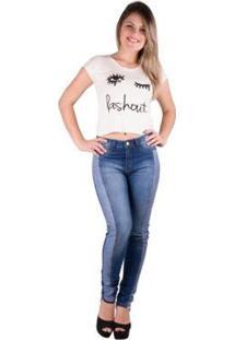Camiseta Banna Hanna Estampada Feminina - Feminino-Off White