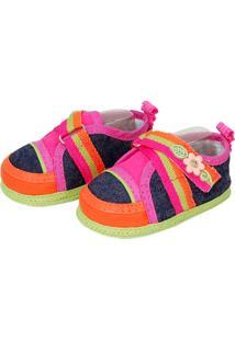 Sapato Colorido Sapatinhos Baby Jeans