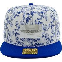 0ef2d88ed843f Boné Aba Reta Young Money Snapback Floral Blue Gold Series - Unissex-Azul