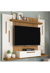 Painel Para Tv Até 50 Polegadas Cronos Off White/Freijó - Artely