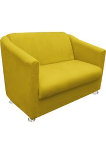 Namoradeira Decorativa Tilla 2 Lugares Suede Amarelo - D'Rossi - Tricae