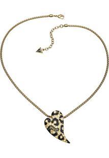 Colar Coraã§Ã£O Animal- Dourado & Preto- 44Cm- Gueguess