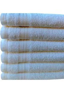 Kit C/ 10 Toalhas De Rosto Branca Para Salão De Beleza Profissional 48X75 Cm Lmpeter