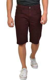Bermuda Jeans Slim Yck'S Vinho
