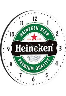 Relógio De Parede Heineken Branco