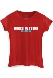Camiseta Bandup Roger Waters Us + Them Tour - Feminino-Vermelho