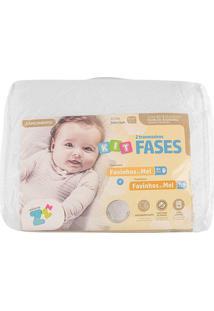 Kit 2Pçs Travesseiro Favinhos De Mel Recém Nascido E Favinhos De Mel 6+ Baby BrancoFibrasca Para Fronhas 30X40Cm