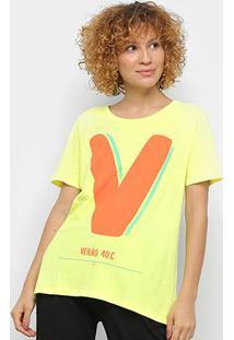Camiseta Farm Verão Feminina - Feminino-Amarelo