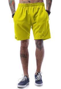 Bermuda Tactel Cellos Cross Arrows Premium Masculina - Masculino-Amarelo Escuro