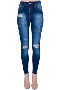 Calça Jeans Skinny Destroyed Extreme Power Bia Colcci - Calça Jeans Skinny Destroyed Extreme Power Colcci 44