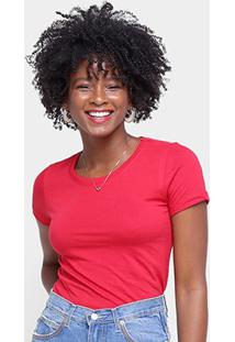 Camiseta Hering Básica Feminina - Feminino-Vermelho Escuro