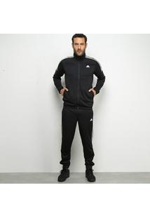 Agasalho Adidas Mts Team Sports Masculino - Masculino-Preto+Branco