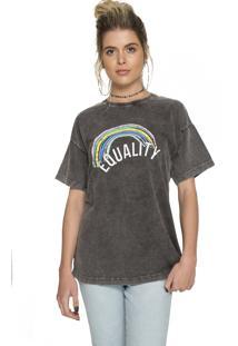 T-Shirt Sislla Igualdade Chumbo