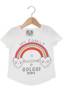 4af366989 Camiseta Para Meninas Com Manga Com Rasgos infantil   Shoes4you