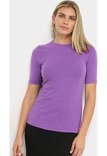 Camiseta Colcci Lisa Feminina - Feminino-Roxo+Azul