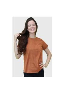 Camiseta Lisa Marrom D Bell
