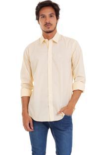 Camisa De Tricoline Com Stretch Joss Amarela